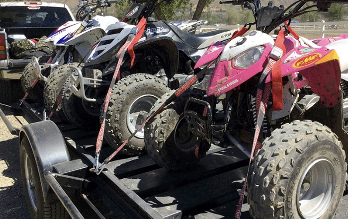 how to load ATV to trailer